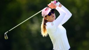 Paula Creamer tees off at the CP Women's Open.