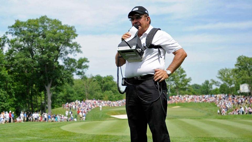 Peter Kostis reports during the Memorial Tournament.