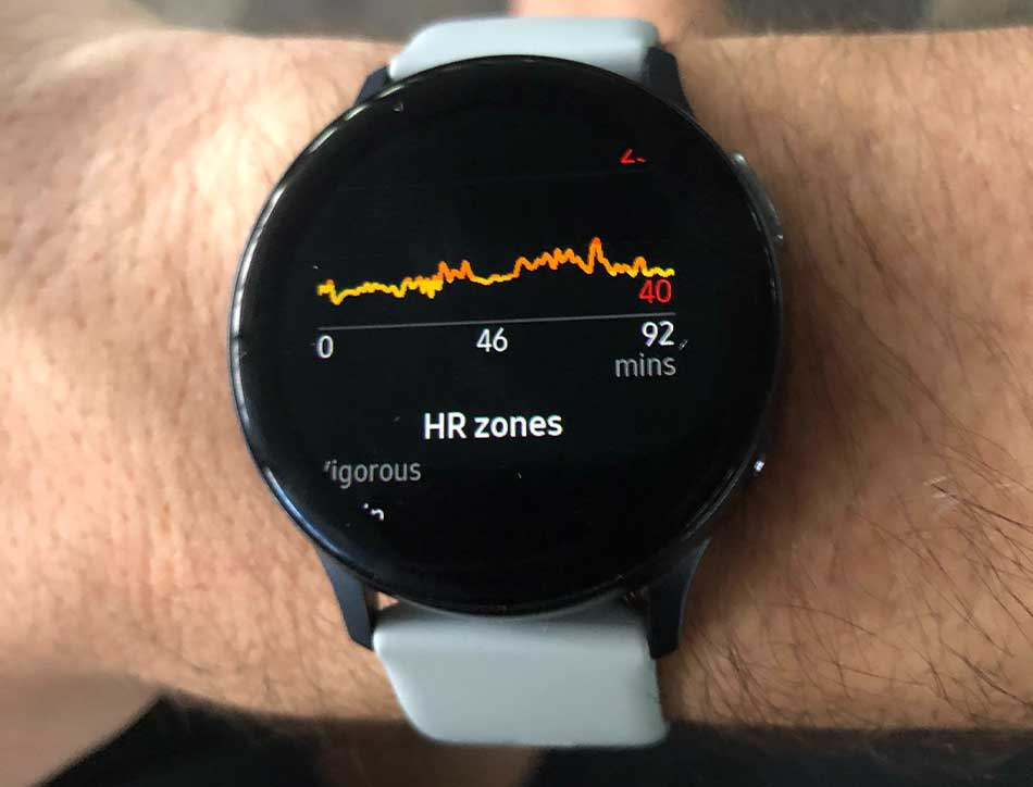 My smartwatch tracked my heart rate and motion throughout my workout.
