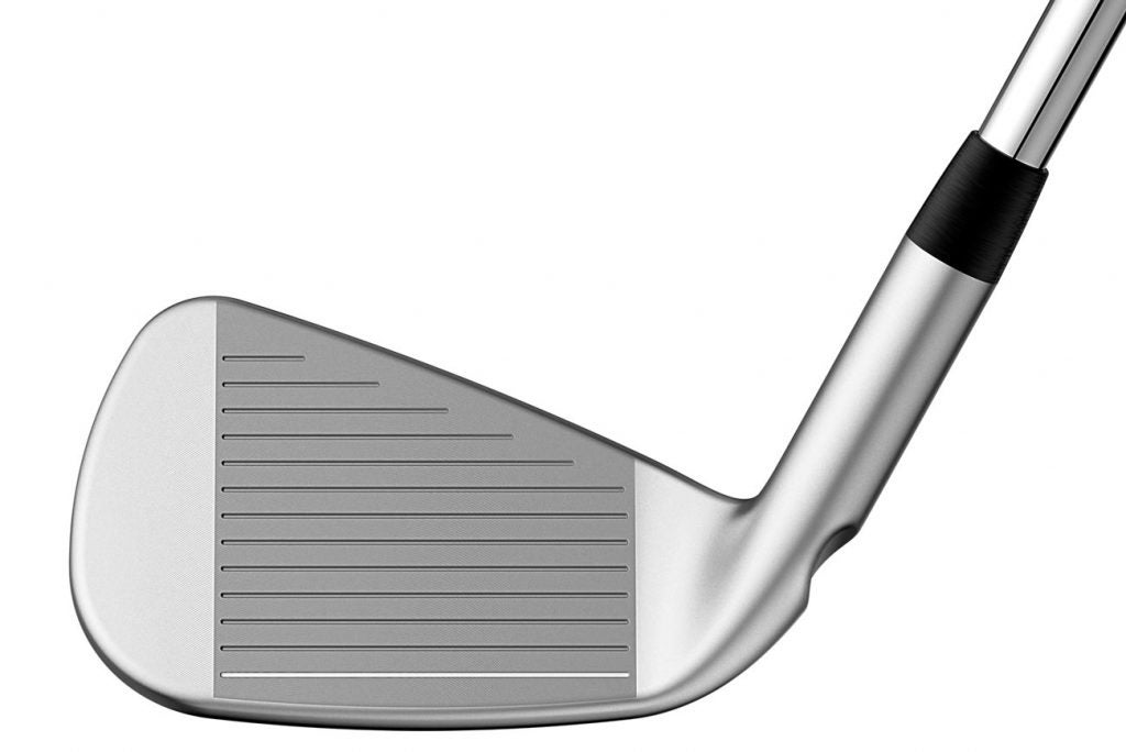 The face of the Ping i210 iron.