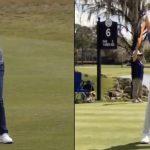 Rory McIlroy swinging golf clubs