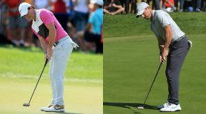 Side by side of Rory McIlroy's putting technique.