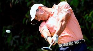 Rory McIlroy tees off during the final round of the WGC-Mexico.