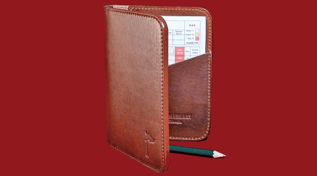 The ideal scorecard holder for golfers who take scores (and style) seriously