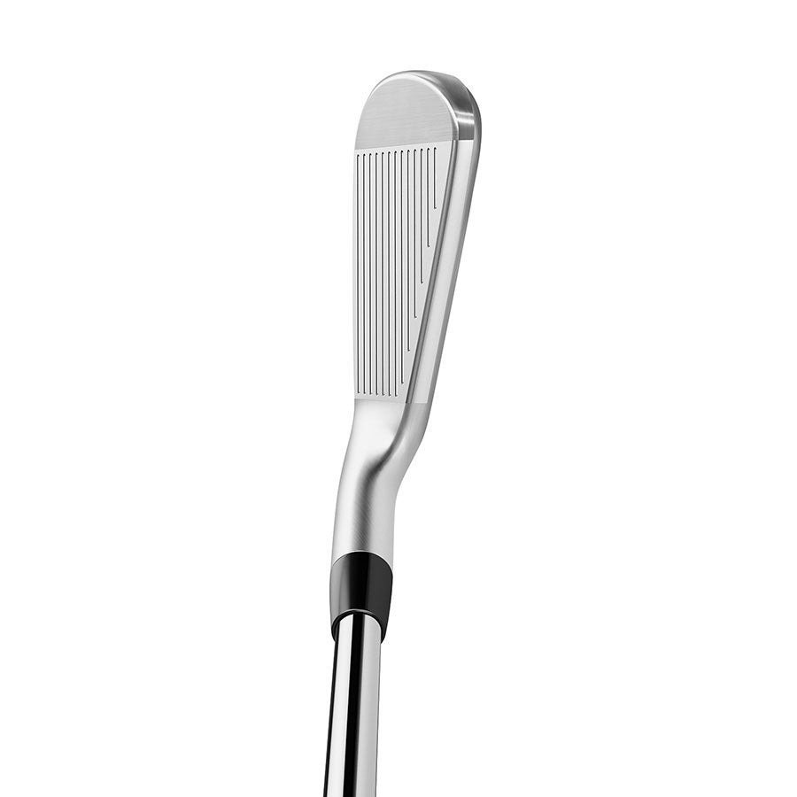 The TaylorMade P790 iron at address.