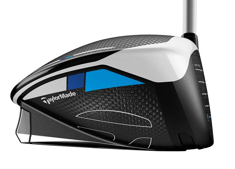 The toe of the TaylorMade SIM Max D driver.