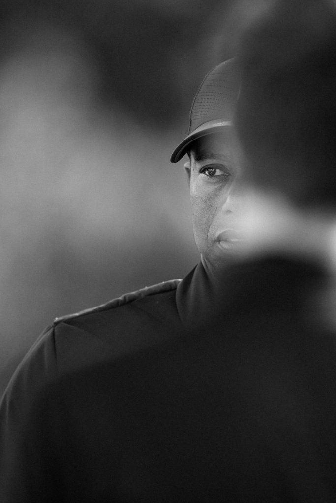 A peek at Tiger Woods, tournament host.