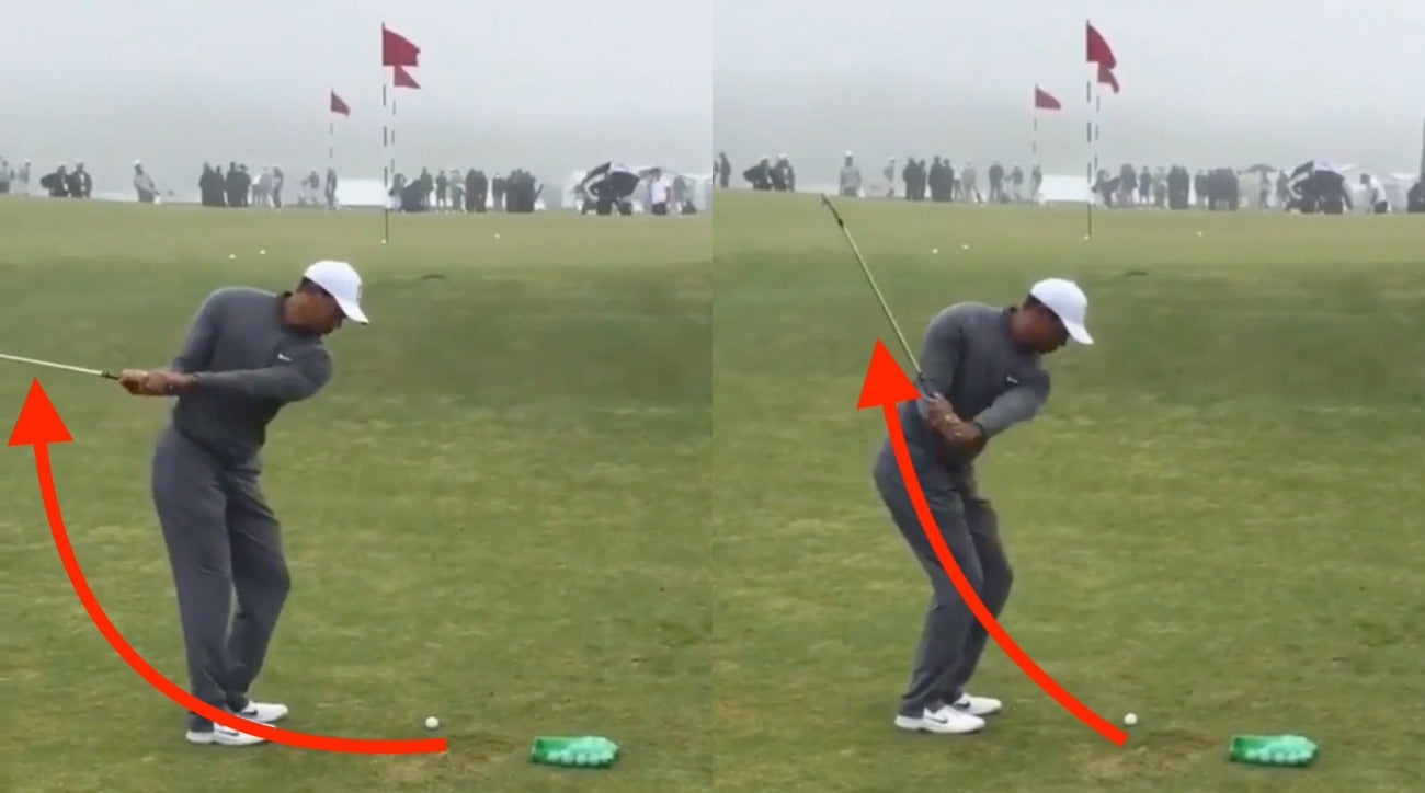 Why Tiger Woods is practicing this eye-catching swing feeling