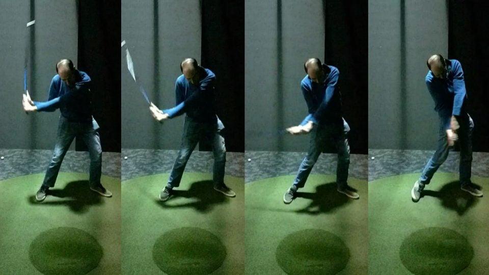 Tim Reilly swings during his week 2 SuperSpeed training