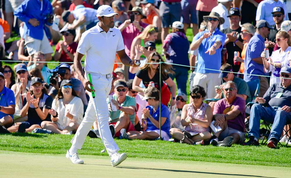 Tony Finau lost to Webb Simpson in a playoff at the 2020 Waste Management Phoenix Open.