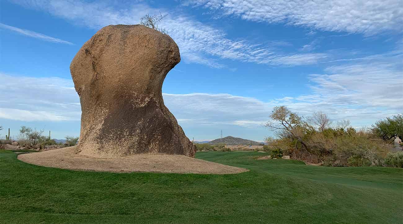 The famous boulder.