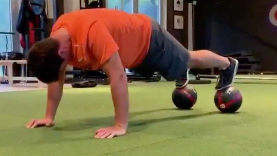 Viktor Hovland's workout routine has been a hit on social media since his win.