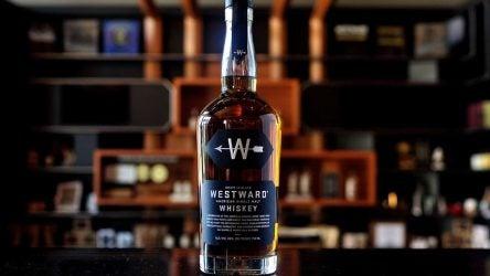 Westward whiskey bottle