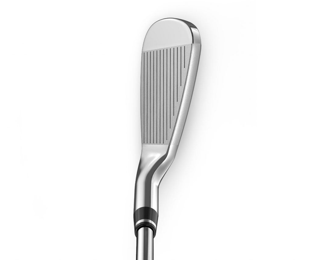 The Wilson D7 Forged iron at address.