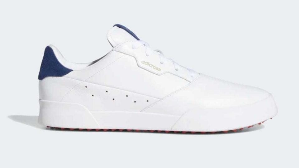 White Adidas Adicross Retro golf shoe
