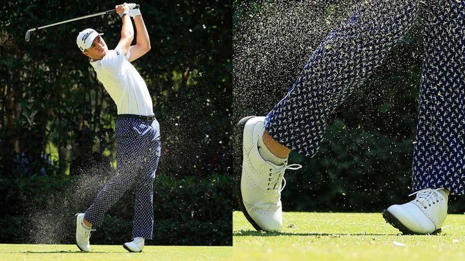 justin thomas ankle mobility helps golf swing