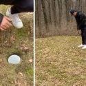 backyard golf hole