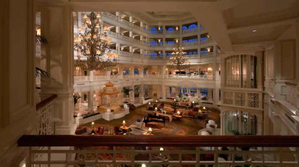 An interior view of Disney's Grand Floridian.