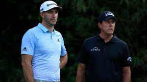 dustin johnson and phil mickelson at players championship