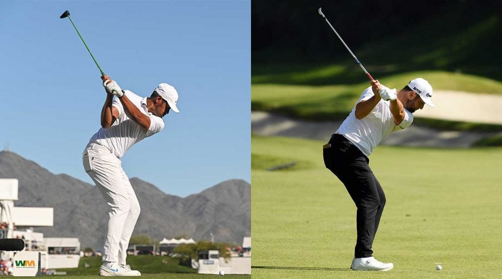 Tony Finau and Jon Rahm have short backswings due to limited mobility, but their size, strength and skill more than make up for it.