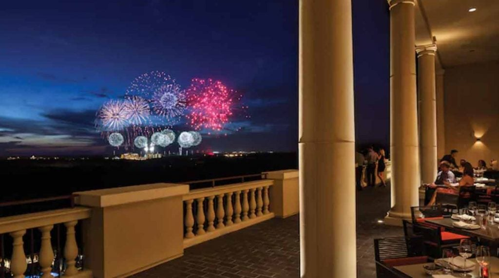 You can watch the fireworks from the Magic Kingdom at the Four Seasons Resort Orlando.