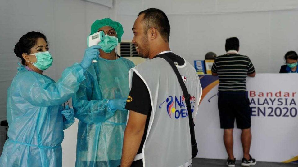 golf mask coronavirus test