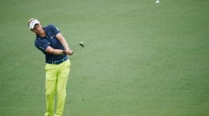 during a practice round prior to the start of the 2015 Masters Tournament at Augusta National Golf Club on April 7, 2015 in Augusta, Georgia.