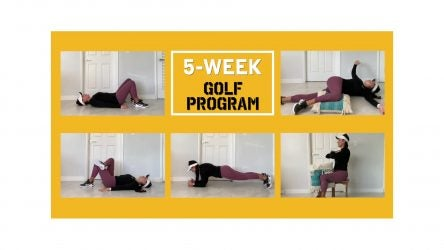 Carolina Romero demonstrates five golf exercises