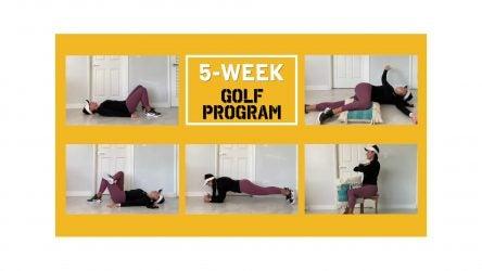 Carolina Romero demonstrates five golf exercises