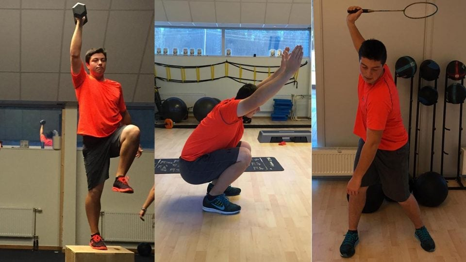 Viktor Hovland exercises to become a better golfer.