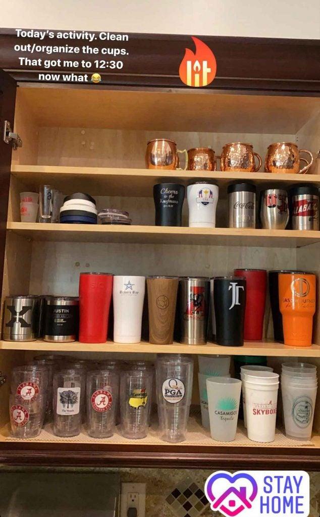Justin Thomas' newly reorganized cupboard.