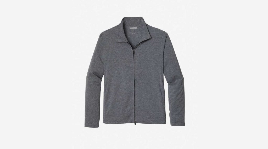 Packable grey golf jacket from Bonobos.