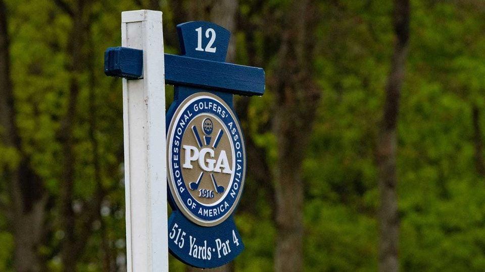 A PGA of America sign