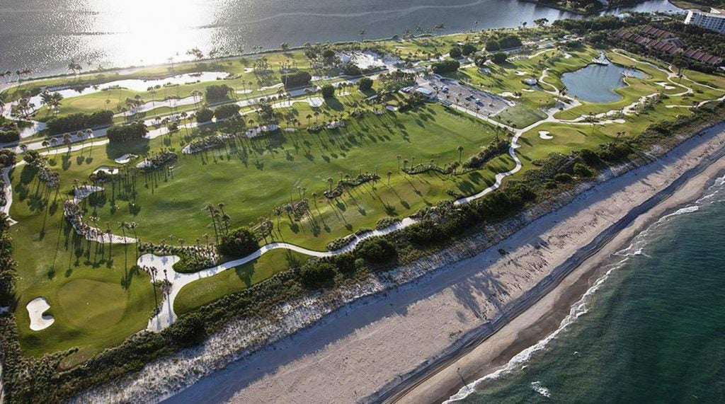 The Palm Beach Par-3 is set on a strip of land between the Intracoastal and the Atlantic.