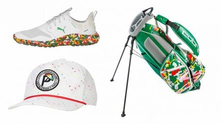 Limited-edition Arnold Palmer gear: shoe, hat and bag