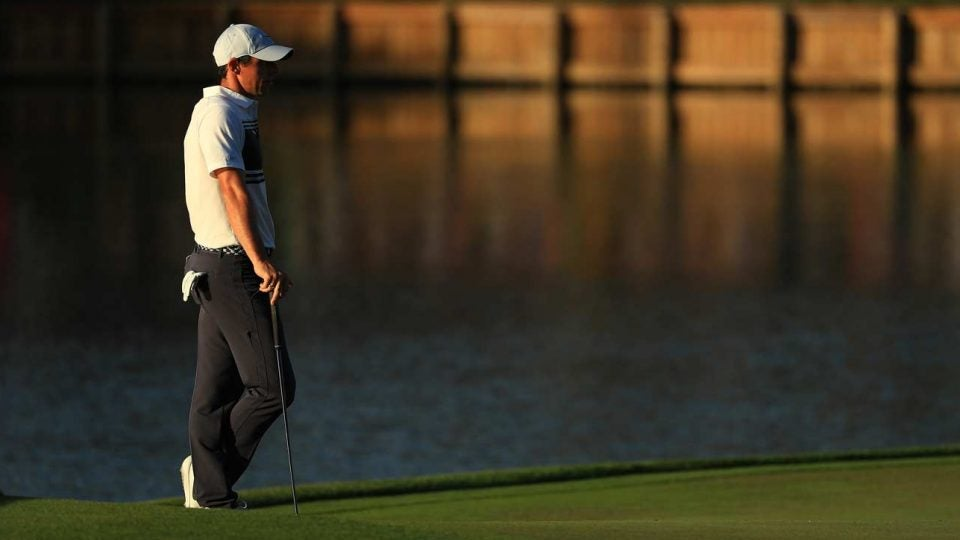 Rory McIlroy was among the last players to finish on Thursday evening.
