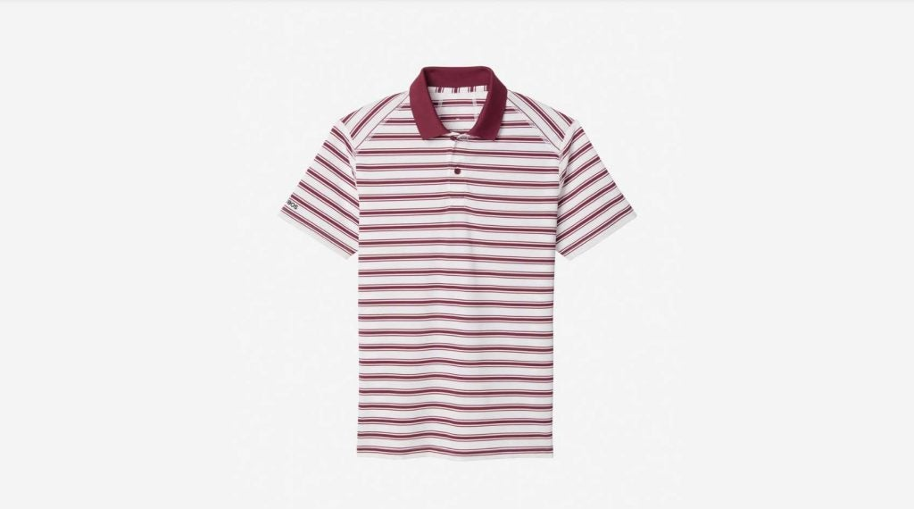 Red and white striped shirt from Bonobos.
