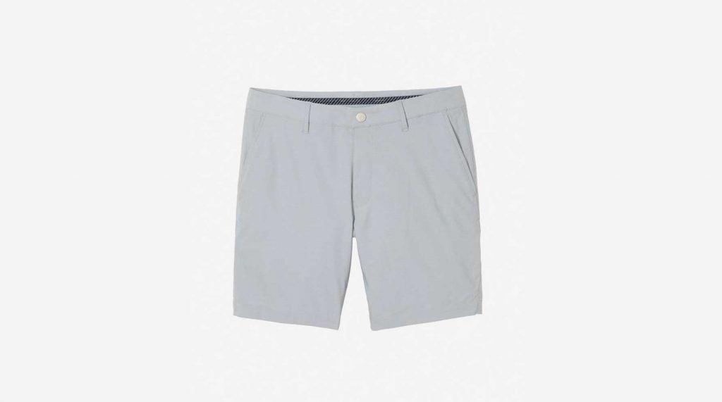Grey golf shorts from Bonobos.