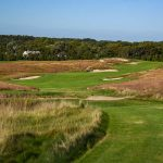 A look at the fairway from the tee of the par-4 14th hole at Shinnecock Hills on Long Island.