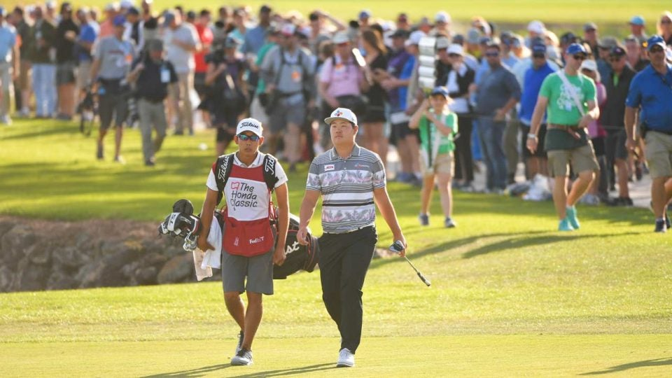 Albin Choi is in line for a big payday after caddying Sungjae Im to a win at the Honda Classic.