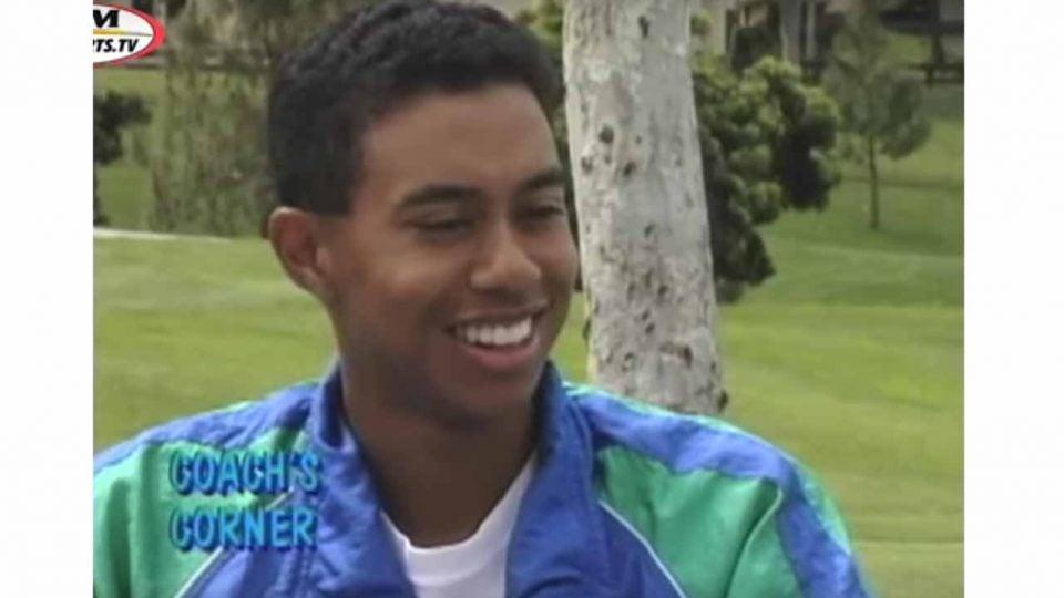 Tiger Woods, high school senior.