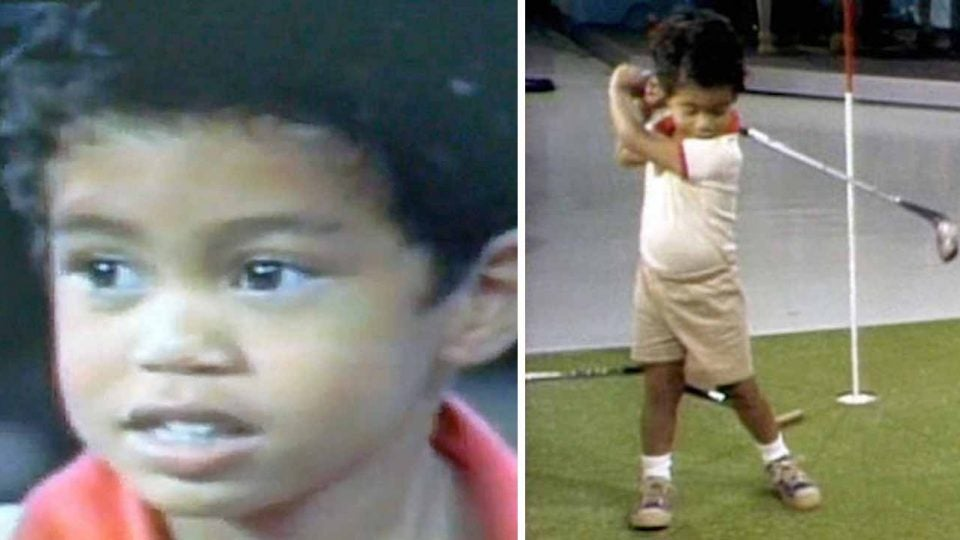 Tiger Woods appeared on the Mike Douglas Show at just two years old.