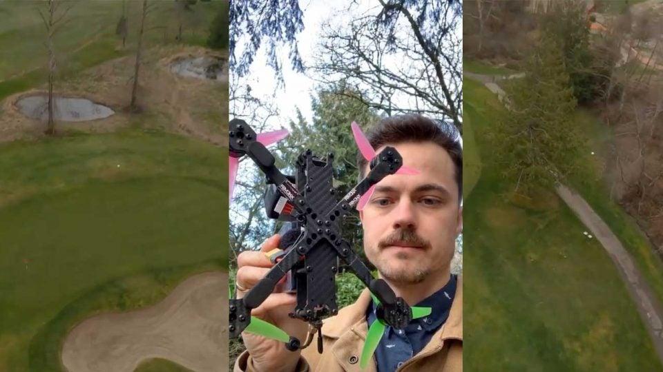 racing drone golf shots
