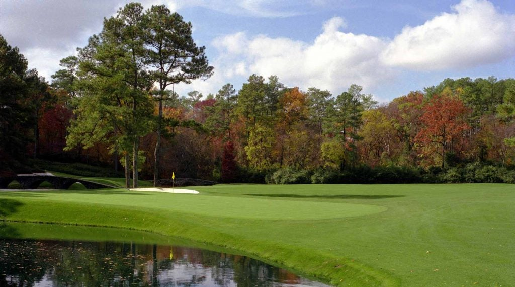 The par-4 11th, pictured in the fall in the 1990s, is among the holes that could play tougher in October.