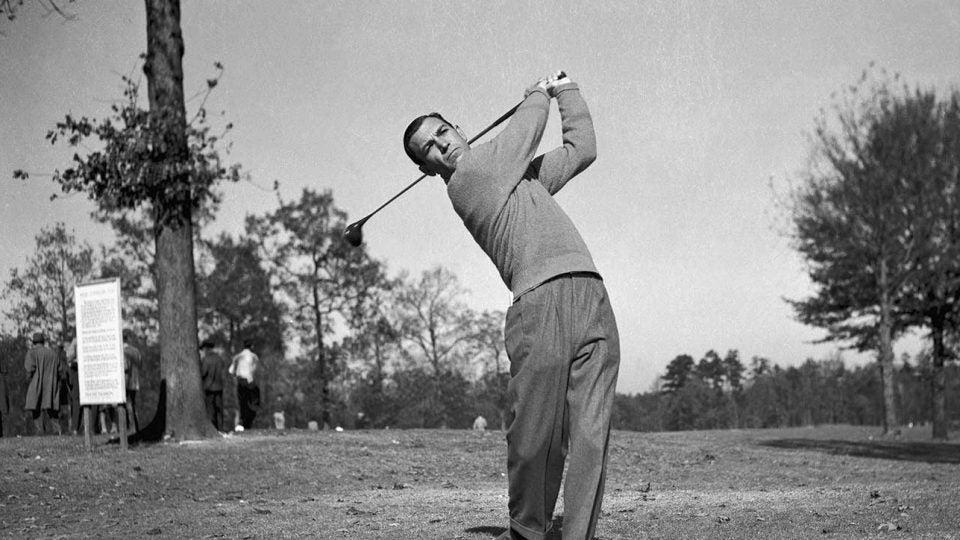 Ben Hogan golf swing black and white