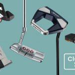 Cinq putters de golf