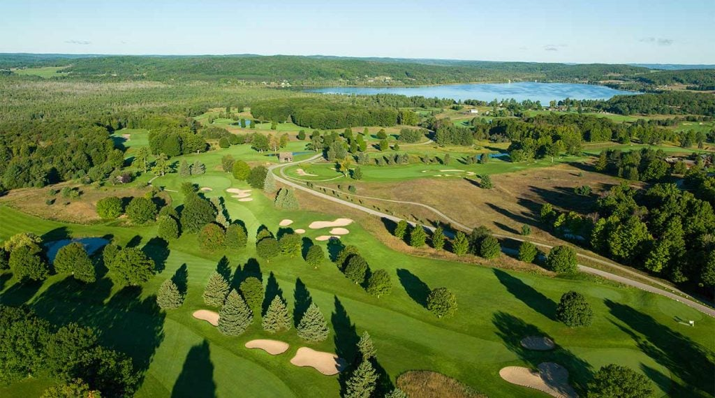 A look at the Alpine Golf Course at Boyne Mountain.