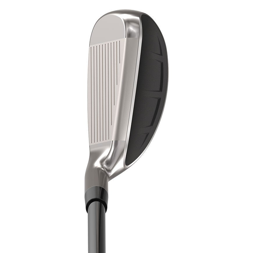 The Cleveland Launcher HB Turbo iron at address.