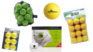 Ccheck out these fake golf balls that you can chip around in your living room/kitchen/hallway without worrying about breaking any valuables.