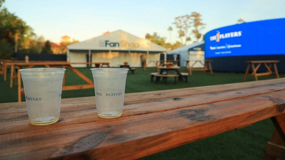 cups sit empty at the players championship